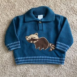 Vintage Gymboree Raccoon Sweater